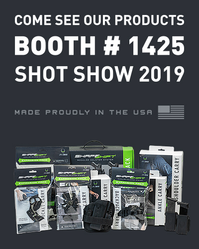 Come See our products Booth #1425 Shot Show 2019