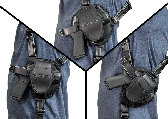 S&W M&P Shield 9mm LaserMax CenterFire Laser Alien Gear Cloak Shoulder Holster