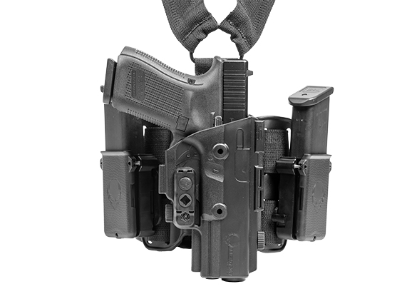 S&W M&P40c Compact 3.5 inch barrel ShapeShift Drop Leg Holster