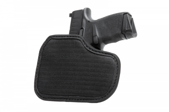 Glock - 38 with Crimson Trace Defender Laser DS-121 Cloak Hook & Loop Holster