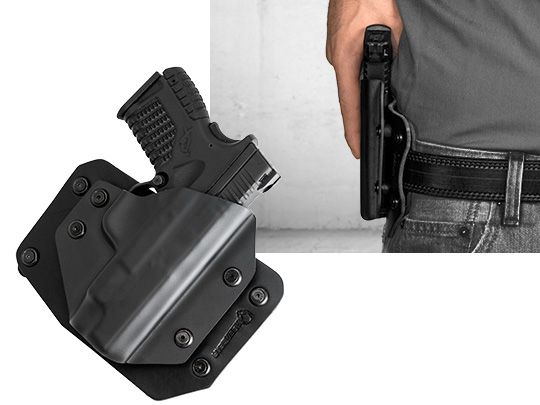 Glock - 38 with Crimson Trace Defender Laser DS-121 Alien Gear Cloak Slide OWB Holster (Outside the Waistband)