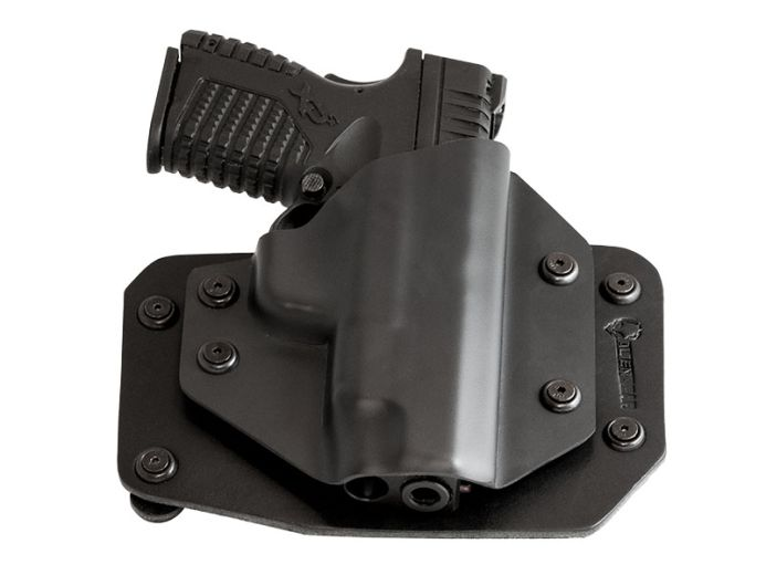 S&W M&P40 4.25 inch barrel Crimson Trace Light LTG-760 Alien Gear Cloak Slide OWB Holster (Outside the Waistband)