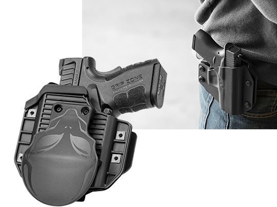 Ruger LC9s - LaserLyte Laser CK-AMF9 Alien Gear Cloak Mod OWB Holster (Outside the Waistband)