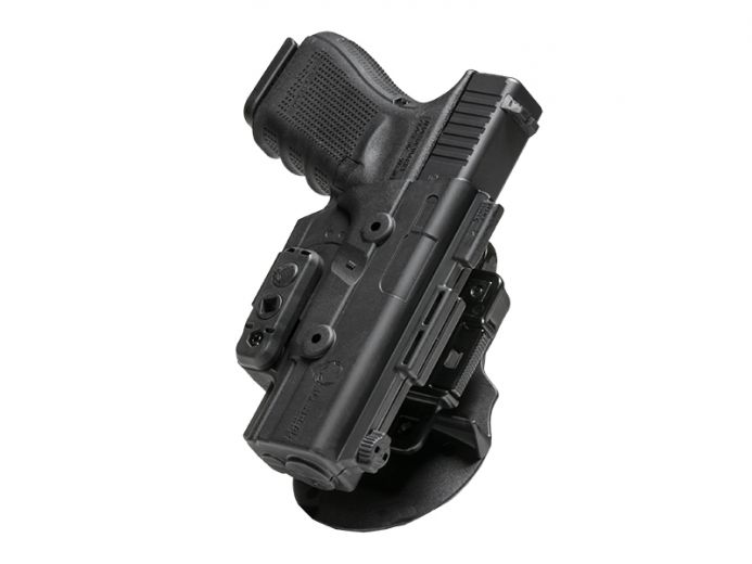 Springfield XD 4 inch barrel Alien Gear ShapeShift OWB Paddle Holster