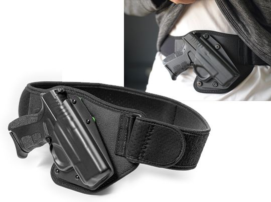 Details about  /Holsters Belly Band Concealed Hand Gun Carry Breathable Waist Hide Pistol Belt