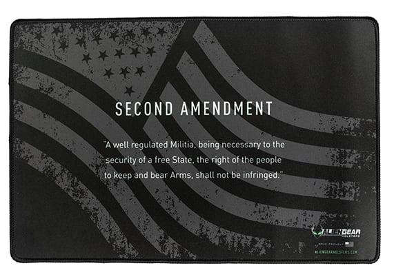 Gun Mat - 2nd Amendment B&W