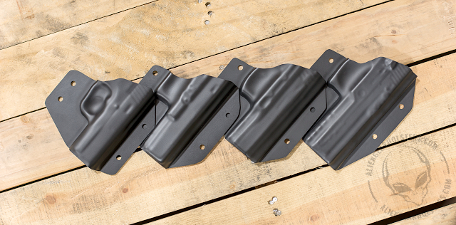 hybrid holster shells for high retention and quality