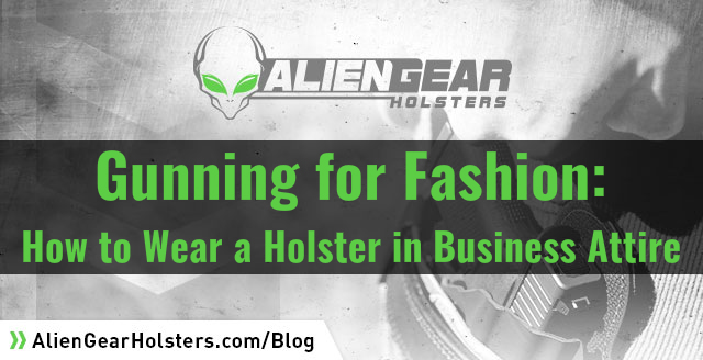 how to wear a holster in business attire