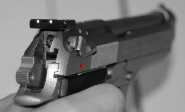 sights on pistol