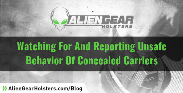 unsafe behavior with concealed carry